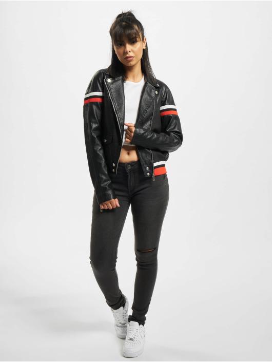 Fornarina Leather Jacket CROSS black