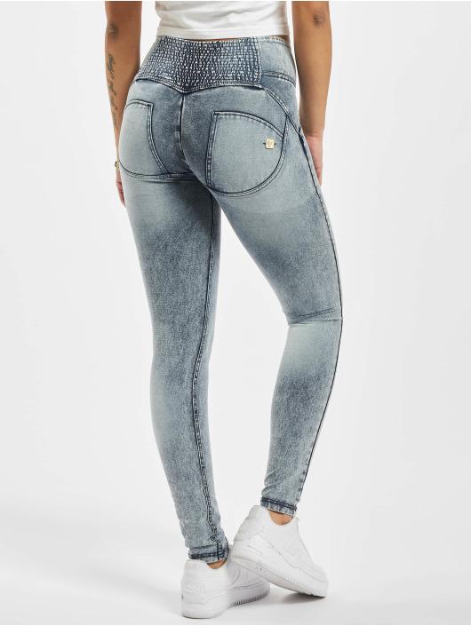 Freddy Skinny Jeans Mid-Rise Acid Wash blue