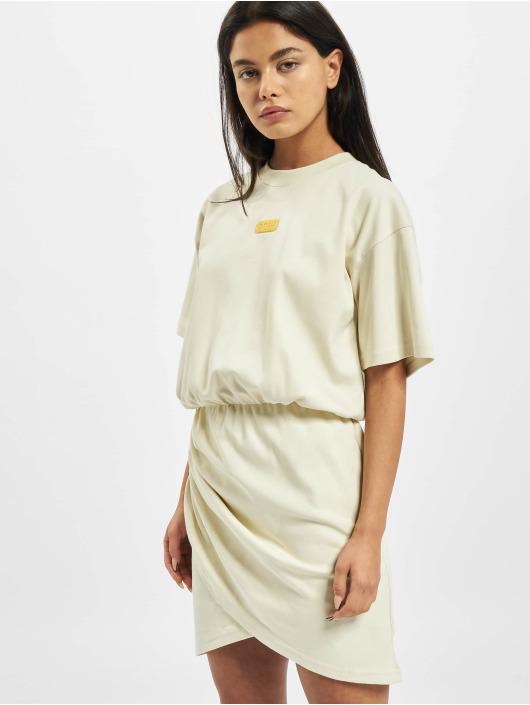 GCDS Dress WRAPPED MONSTER beige