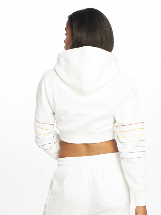 Grimey Wear Hoodie Fluid Planet Crop white