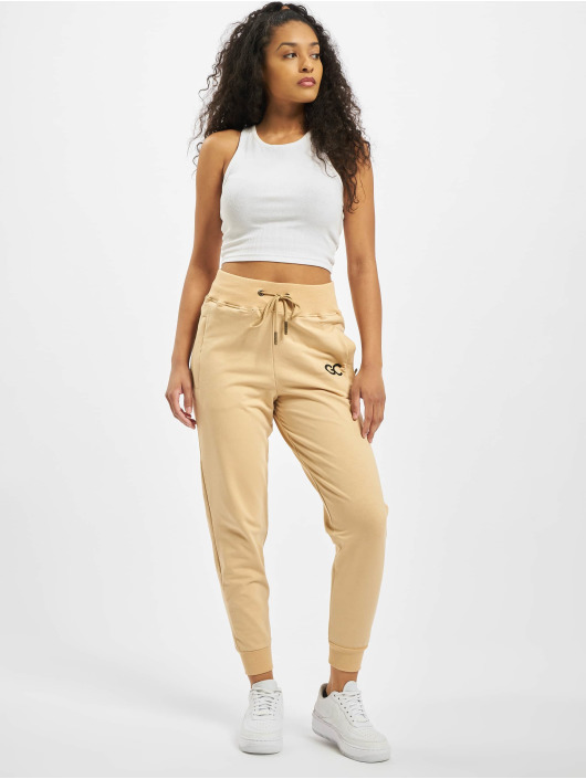 GymCodes Sweat Pant Lady Zip beige