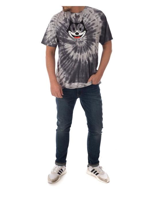 HUF T-Shirt Felix Hypnotize Spiral gray