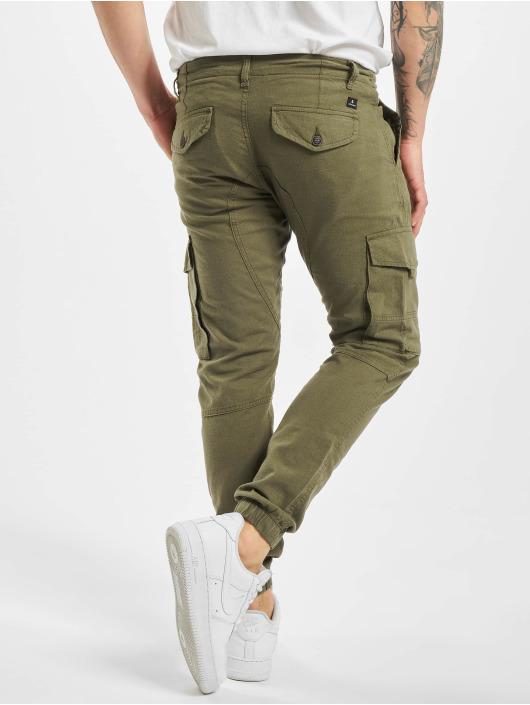 Jack & Jones Cargo pants jjiPaul jjFlake Linen AKM 982 STS olive