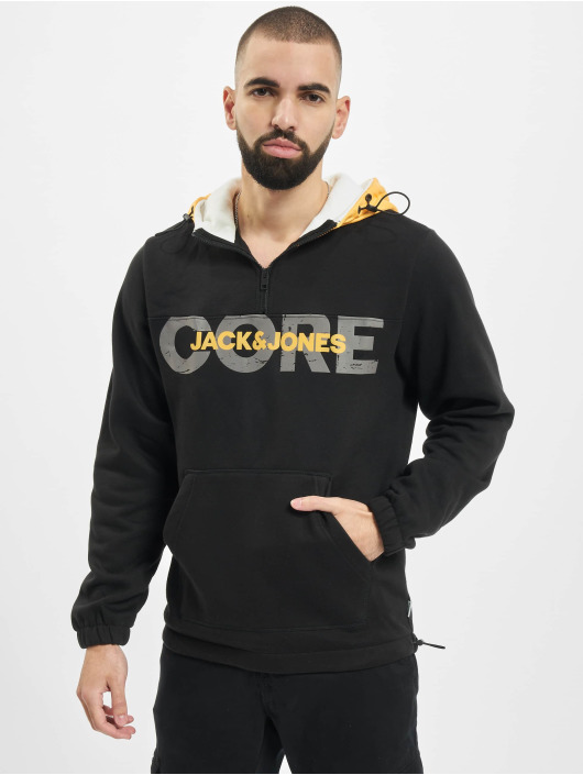 Jack & Jones Hoodie jcoJaque black