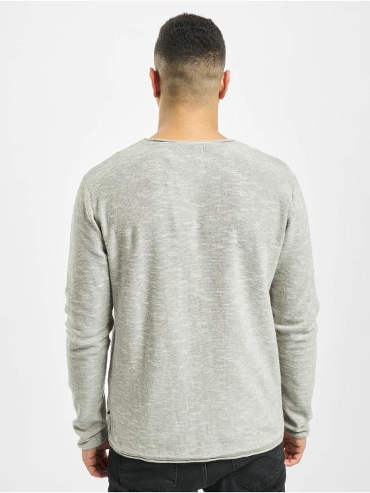 Jack & Jones Pullover jjeSlub gray