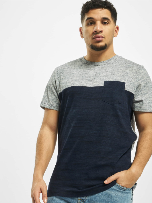 Jack & Jones T-Shirt jjeMix Crew Neck blue