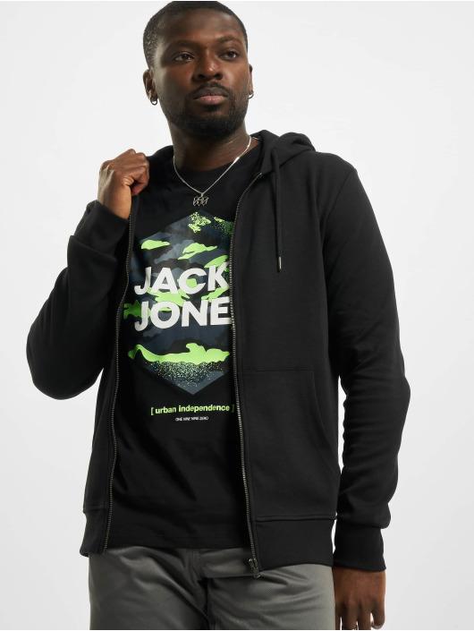 Jack & Jones Zip Hoodie jjeBasic Noos black