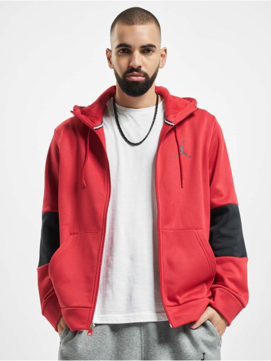 Jordan Zip Hoodie Air Therma Fleece Full Zip red