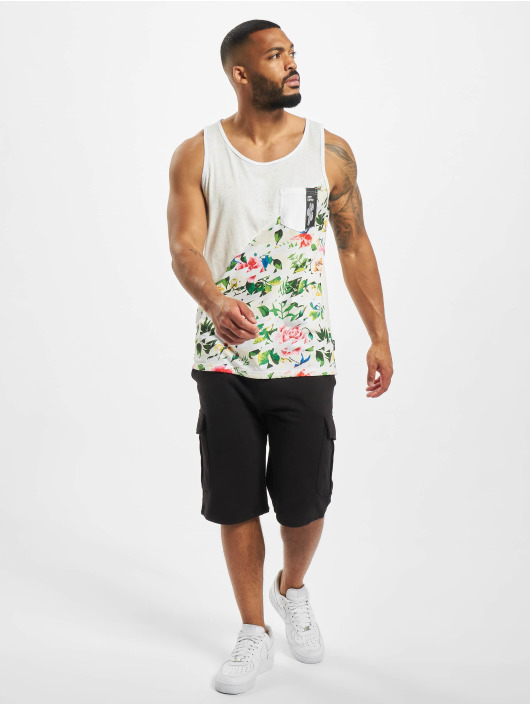 Just Rhyse Tank Tops Floral white