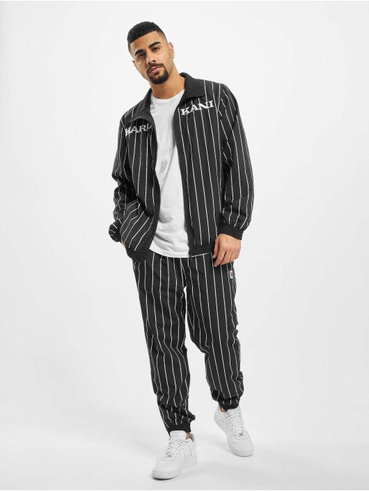 Karl Kani Lightweight Jacket Kk Retro Pinstripe black