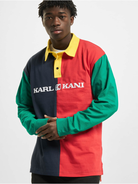 Karl Kani Shirt Retro Block Rugby red