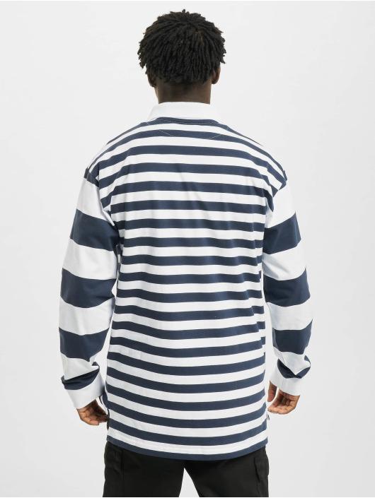 Karl Kani Shirt Retro Block Stripe Rugby white