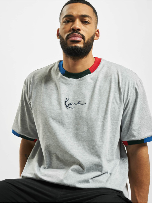 Karl Kani T-Shirt Signature Ringer gray
