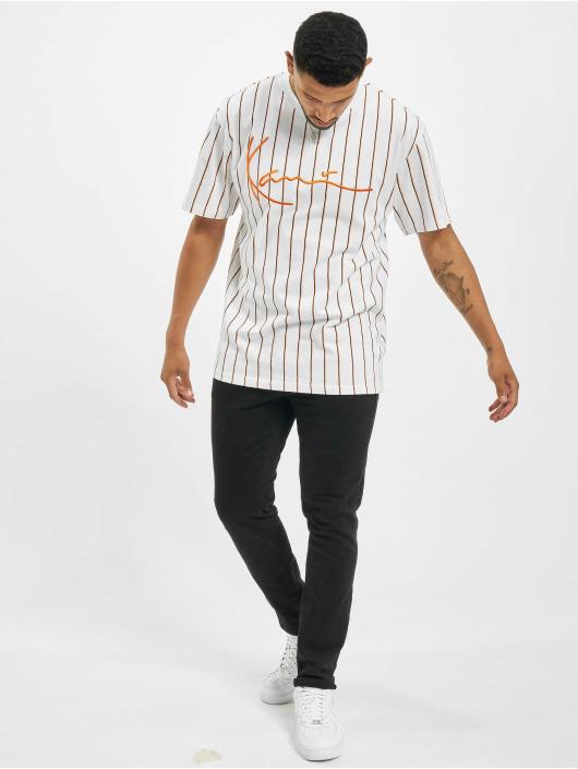 Karl Kani T-Shirt Kk Signature Pinstripe white
