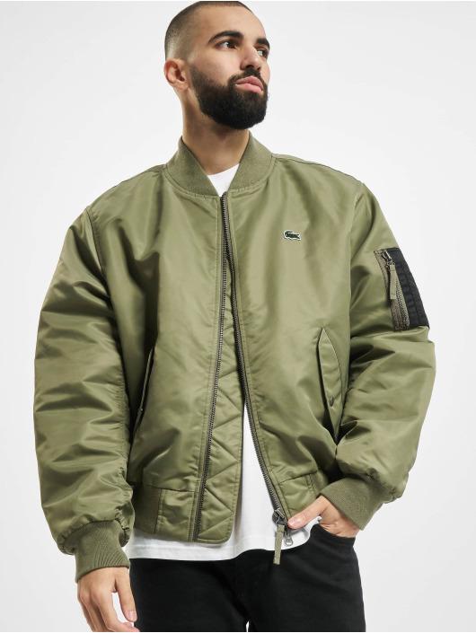 Lacoste Bomber jacket Logo green