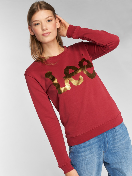 Lee Pullover Logo red