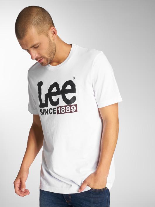 Lee T-Shirt 1889 Logo white
