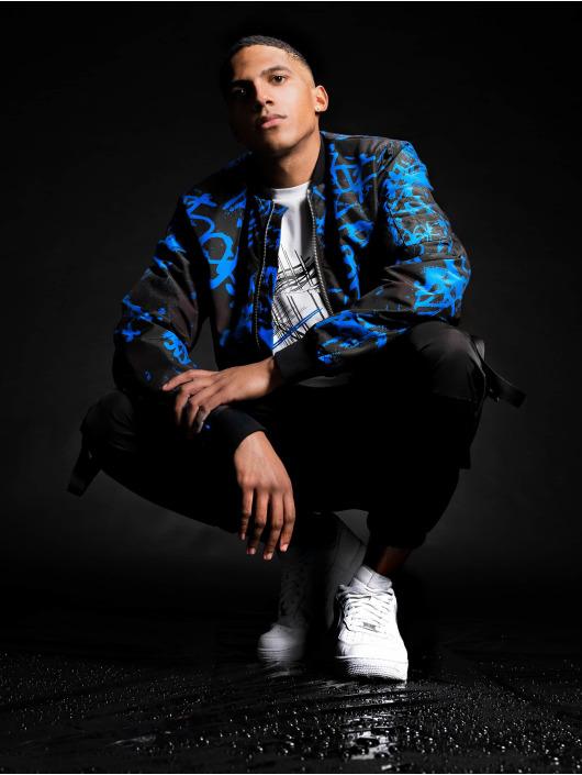 Les Hommes Bomber jacket Classic blue