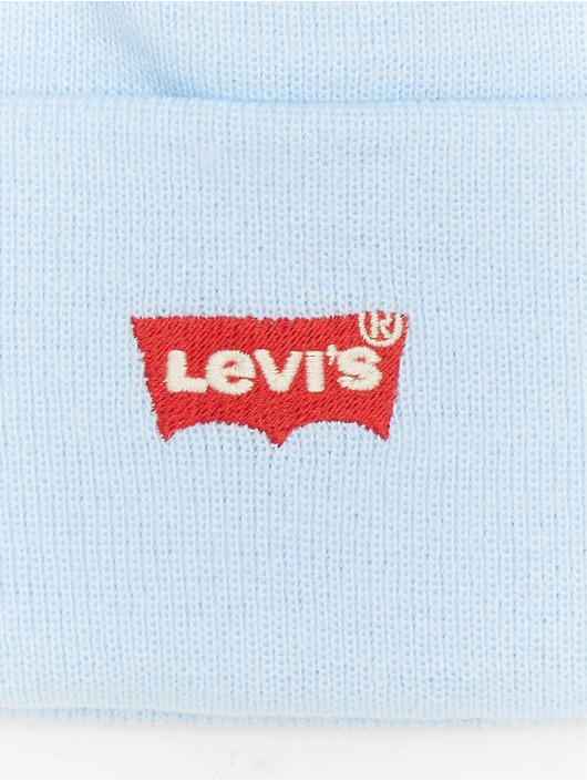 Levi's® Hat-1 Red Batwing Embroidered Slouchy blue
