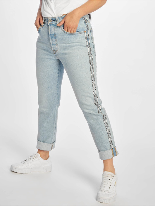 Levi's® Straight Fit Jeans 501® Crop blue