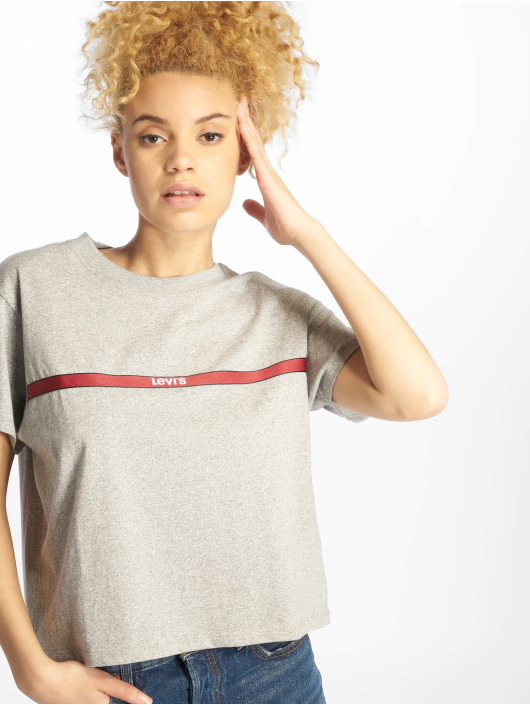 Levi's® T-Shirt Graphic Varsity Text Tape gray