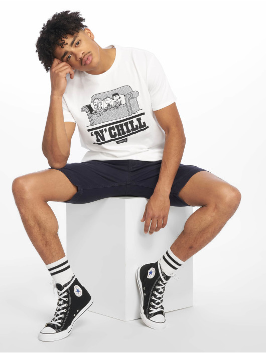 Levi's® T-Shirt Graphic Set In Neck Peanuts Chill white