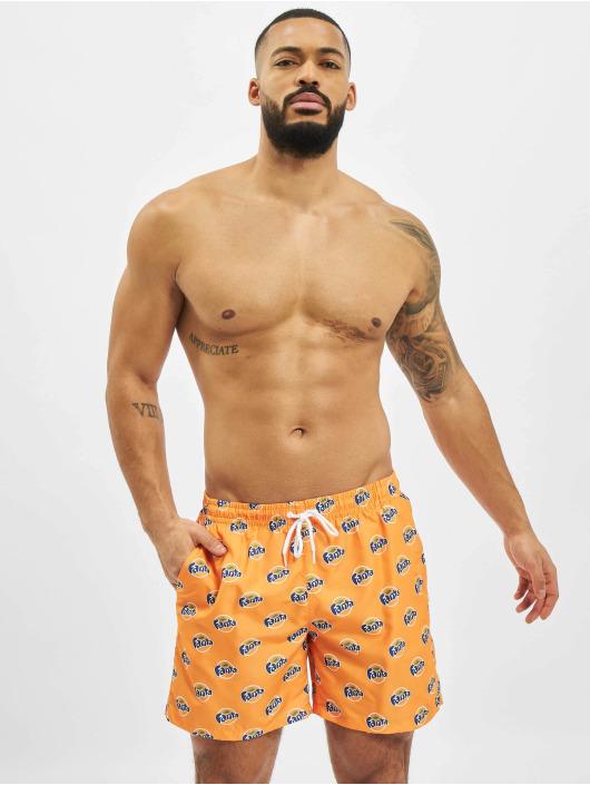 Merchcode Badeshorts Fanta Logo All Over Print orange