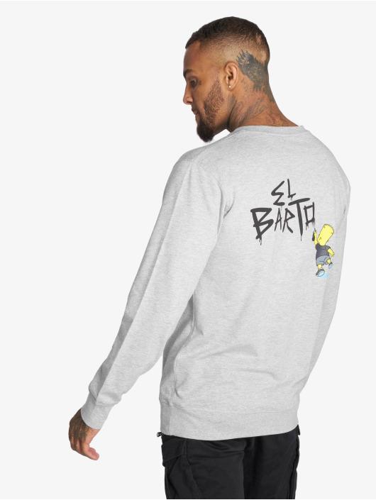 Merchcode Pullover Simpsons Graphity gray