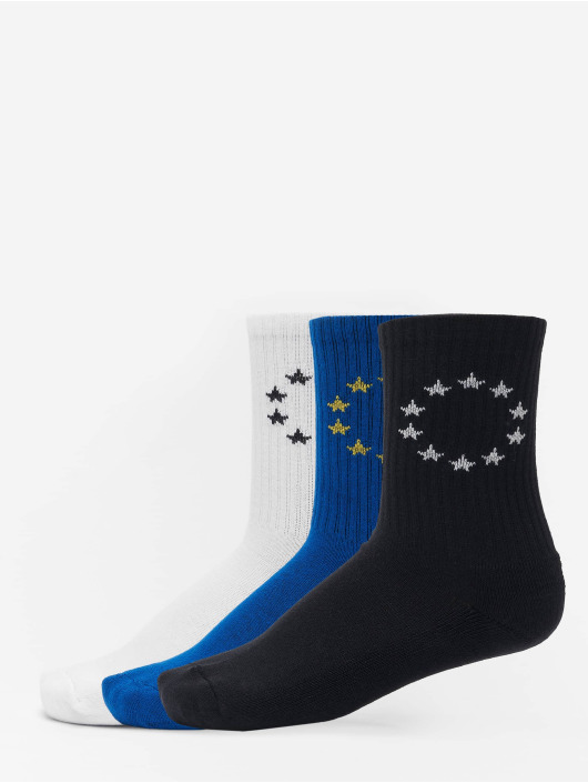 Merchcode Socks Euro 3-Pack white