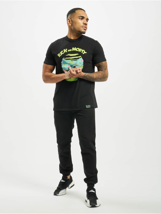 Merchcode T-Shirt Rick And Morty Logo black