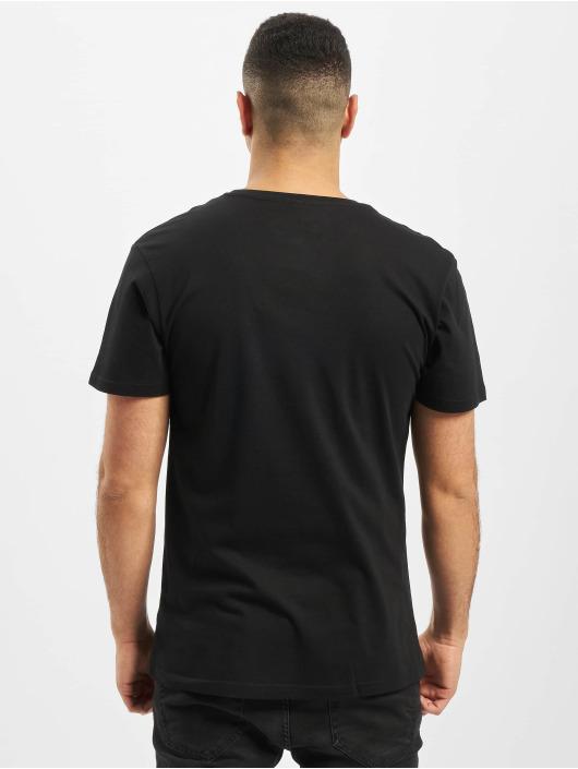 Merchcode T-Shirt Baby Yoda Mandalorian Logo black