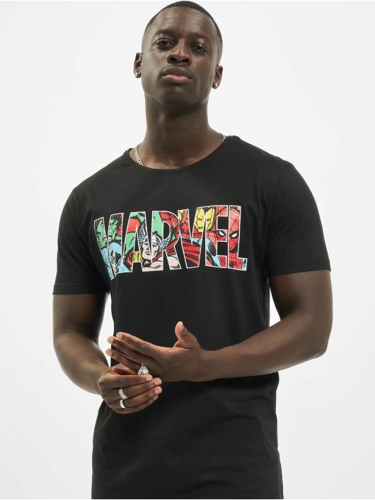 Merchcode T-Shirt Marvel Logo Character black