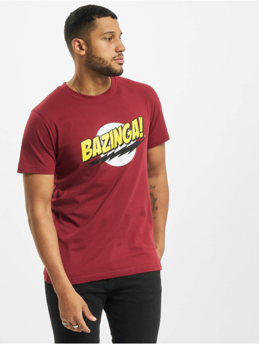 Merchcode T-Shirt Big Bang Theory Bazinga red