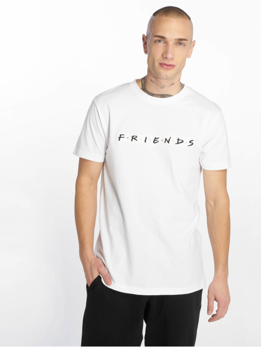 Merchcode T-Shirt Friends Logo Emb white