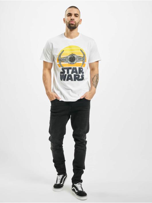 Merchcode T-Shirt Star Wars Sunset white