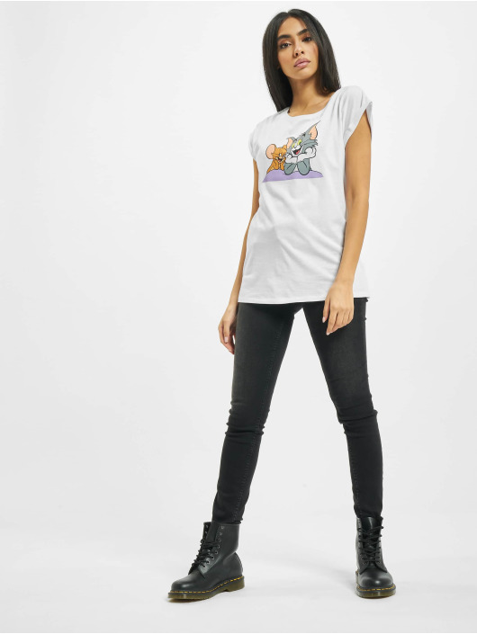 Merchcode T-Shirt Tom & Jerry Pose white