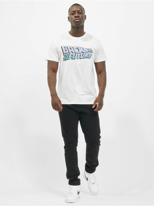 Merchcode T-Shirt Back To The Future Shiny Logo white