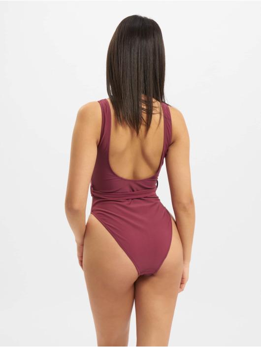 Missguided Bathing Suit Buckle Waist purple