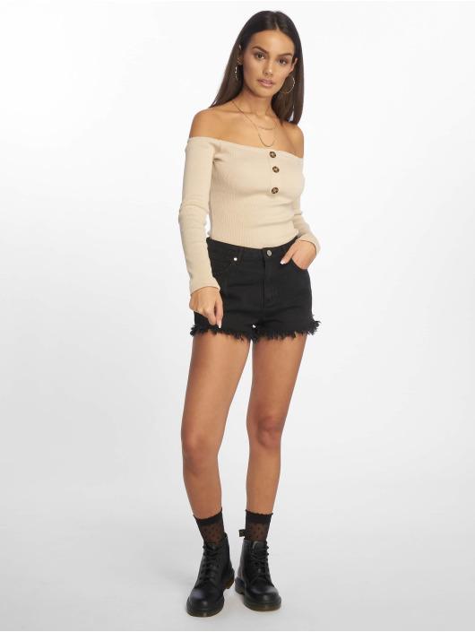 Missguided Body Horn Button Bardot beige