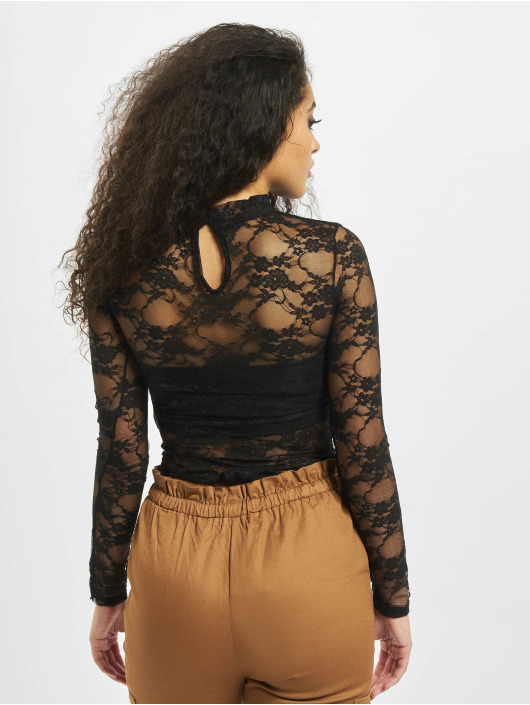 Missguided Body Lace High Neck Long Sleeve black