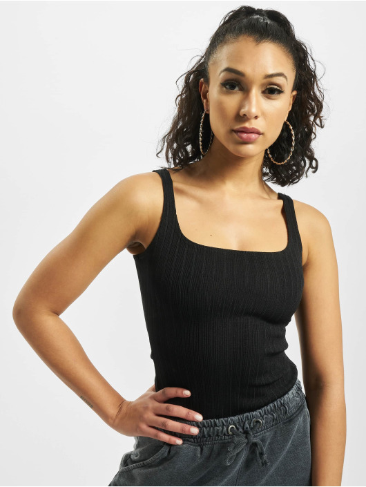 Missguided Body Ribbed Square Neck Sleeveless black