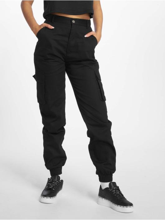 Missguided Cargo pants Plain black