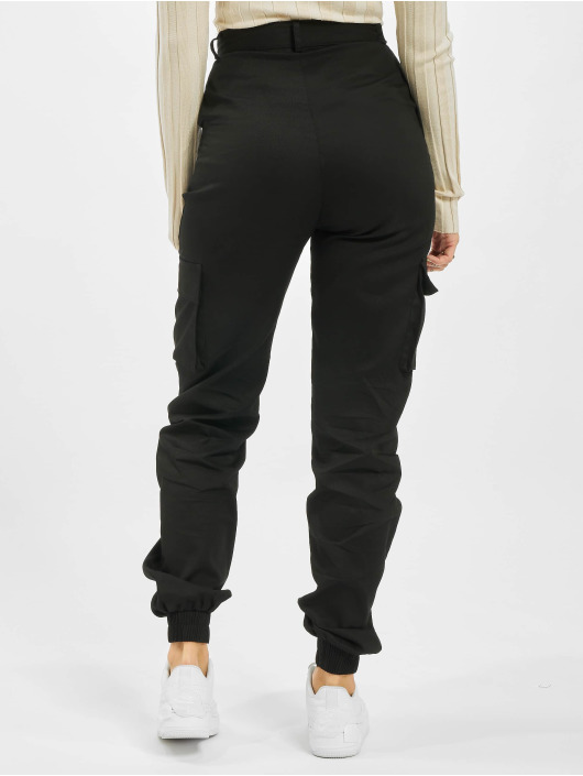 Missguided Cargo pants Tall Plain black