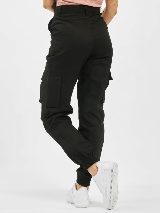 Missguided Cargo pants Petite Plain black