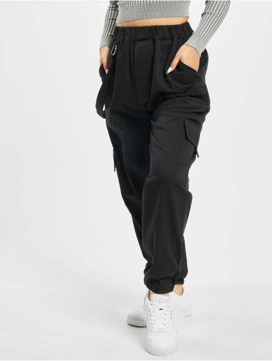Missguided Cargo pants Petited Ring Strap black