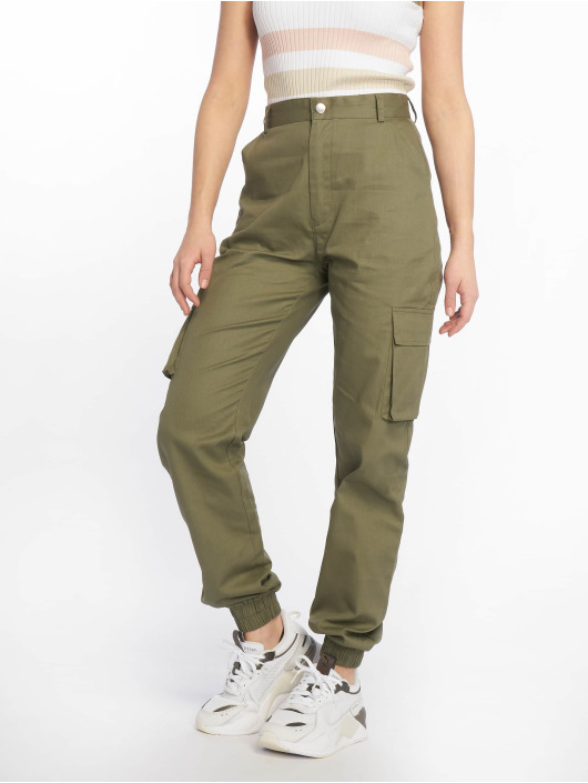 Missguided Cargo pants Plain khaki