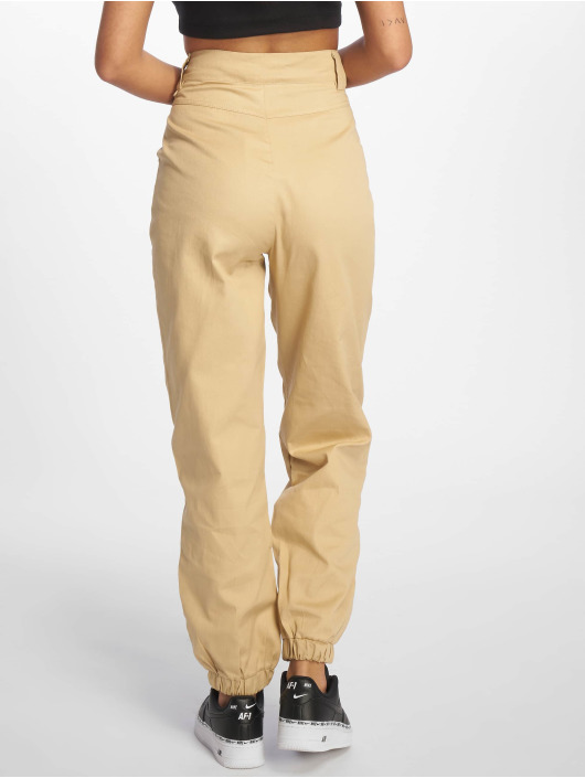 Missguided Chino pants Slim Leg beige