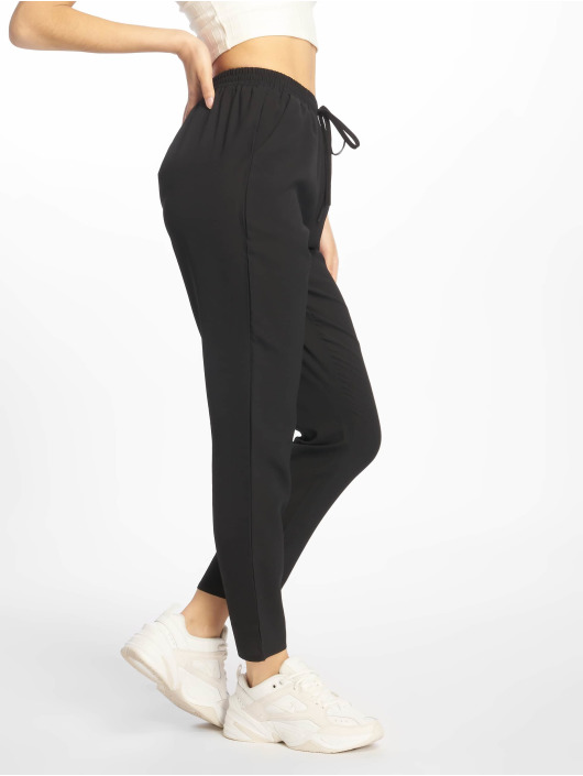 Missguided Chino pants Black Tie Waist black