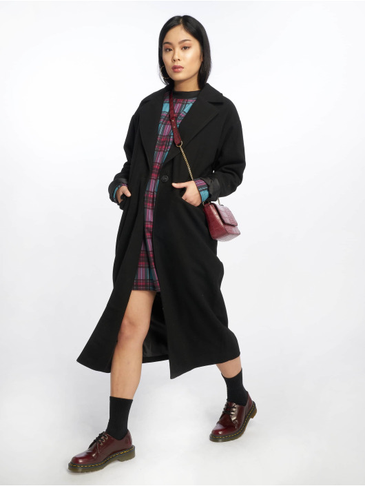 Missguided Coats Longline black
