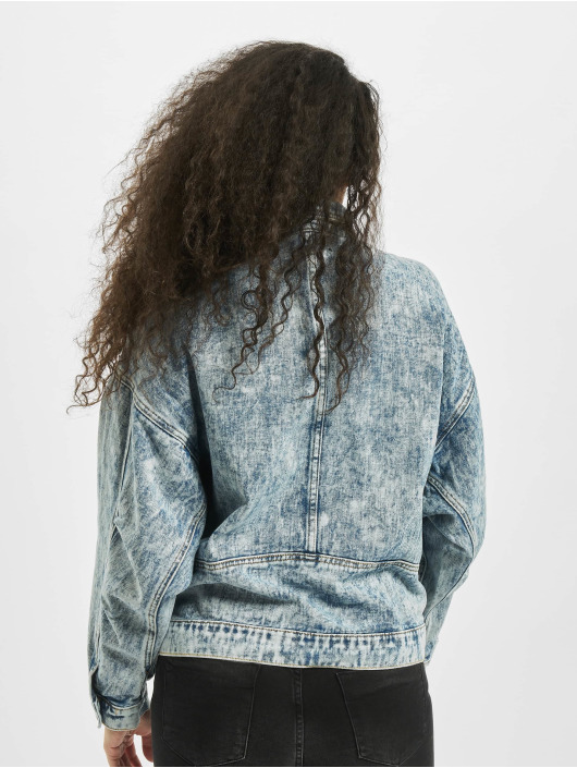 Missguided Denim Jacket 80s Batwing Oversized blue